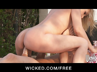 wicked - stunning panties clad milf drives her
