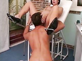 inexperienced doctor fuck pregnant milf (milf