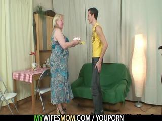 slutty elderly seduces her son in law