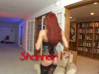 red headed arse lady