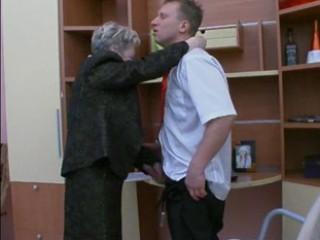 granny bangs the bureau man