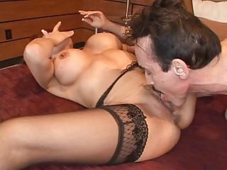 redhead mature babe loves a giant difficult penis