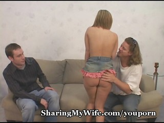 nervous hubby shares babe chick
