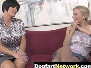 daughter watches woman gang copulate a dark dick