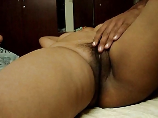indian lady gets her ass, tits and pussy massage