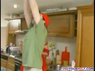older russian house lady own naughty