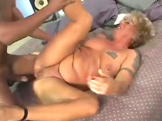 blonde granny obtaining her initial giant black