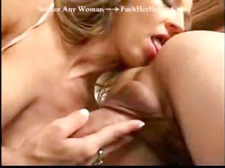 desperate blond girl jerks his wanker and licks