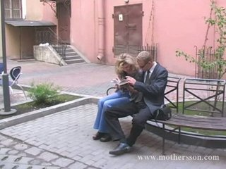 russian inexperienced man with his babe and mom