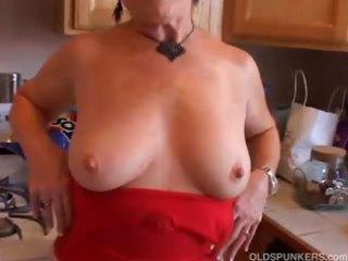 extremely hot grandma has a soaking wet vagina