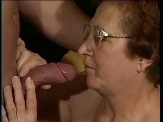 nasty granny is dying for a proper gang bang and