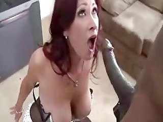 lady gets put on her knees to pierce ebony cock