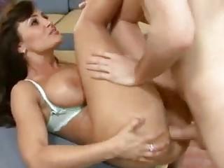 sensual brunette woman with big tits obtains her