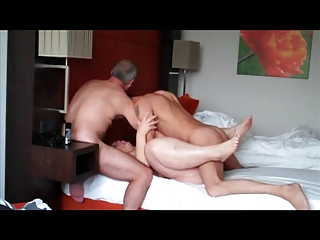 drilling a whore lady ball deep