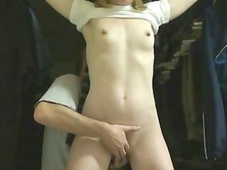 new! young bondage lady tiedfingeredfuckedorgasms