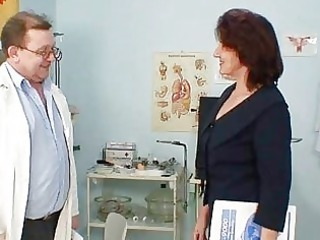 furry pussy grandma visits pervy woman medic