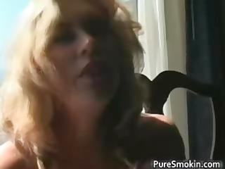shocking pale mature angel smokes cigarette part6