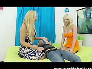 pale british mature babe teaches daughter to suck