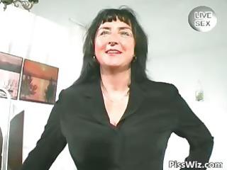 desperate older shows her very big boobs part2