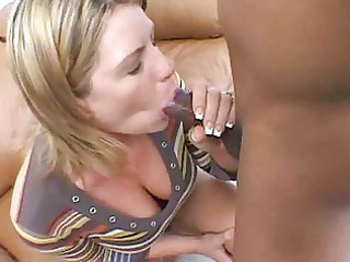 slurping interracial dick sucking delights with