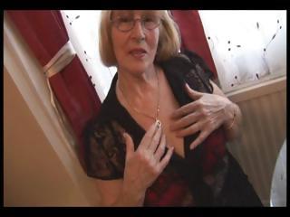 hairy elderly into nylons striptease