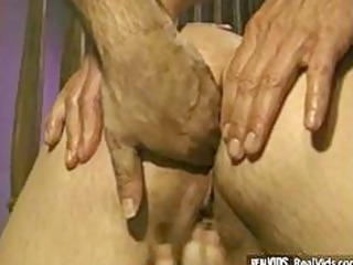 fat blonde girl fucked by two penises