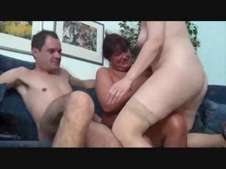 two awesome mature hotties have a three-way with