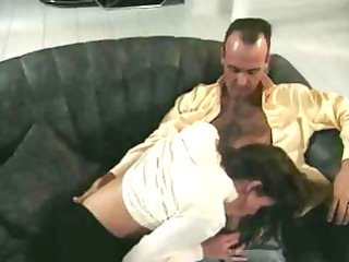 british milf nici stirling drilled on sofa