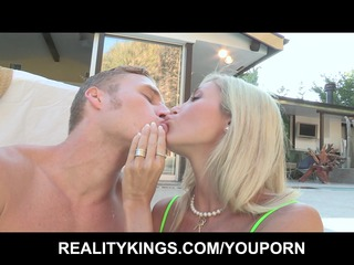 big-tit bleached girl shares her poolboys uneasy