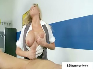 19-big breast at work