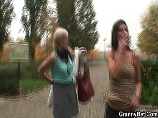 amateur man picks up an elderly prostitute