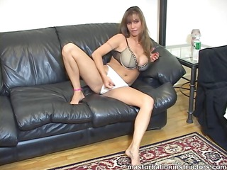 jerk off instructor spreads legs and demos