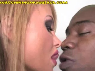 blond mom pays debt by banging ebony