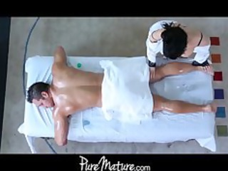 puremature lady massage anal drill
