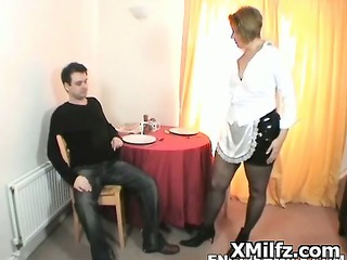 very impressive seductive mature lady slut drilled