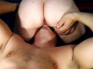 mature duo creampie eating