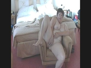see my mature lady stroke her kitty