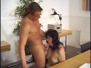 grownup darkhaired older angel acquires screwed