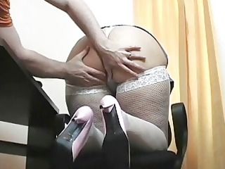 fresh albino cougar babe doctor blows uneasy boner