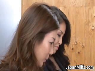slutty japanese milfs licking and banging part6