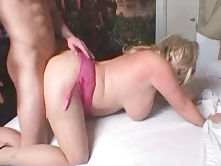 super breasted blond slut drives her lovers heavy