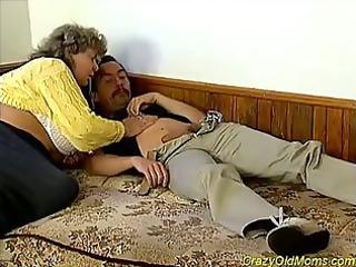 heavy elderly takes pierced