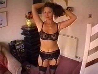 horny horny woman pleases and obtains pierced