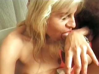 cougar blonde fists herself when others play on