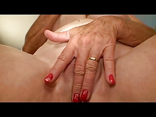 granny with sweet breast pleases her gap