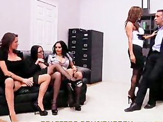4 hot mature babes fight for 1 cock