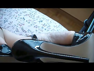 angel feets into sweet highheels