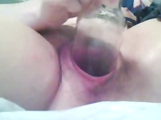 gaping, fisting, bottle cougar on cam