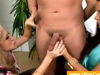 two mature babes masturbating with their boytoy