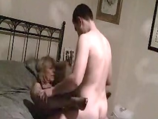 older mom fucked on secret movie scene by fresher